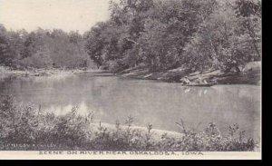 Iowa Oskaloosa Scene On River Near Oskaloosa Albertype
