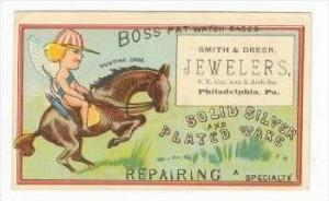 TC: Fairy rides horse  SMITH & DREER JEWELERS, Philadelphia, Pensylvania, 1890s