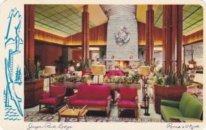 Interior , Jasper Park Lodge , JASPER , Alberta , Canada , 1950-60s