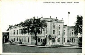 Vtg Carte Postale - Bedford Illinois Il - Lawrence Comté Palais de Justice Unp