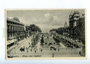 173144 EGYPT ALEXANDRIA Saad Zaghioul place Vintage postcard