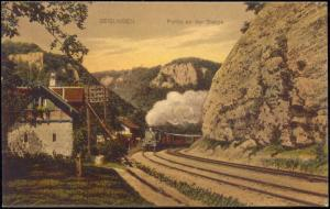 germany, GEISLINGEN, Partie an der Steige, Steam Train (1910s)