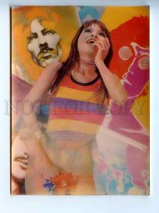 251674 BEATLES PIN UP NUDE girl OLD 3-D lenticular postcard