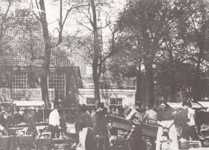 Potten & Pannen Amstelveld Amsterdam in 1893 Postcard