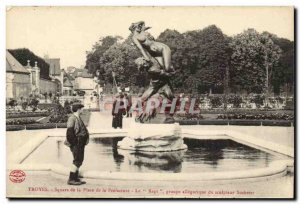 Troyes Postcard Old Square instead of the Prefecture The abduction allegorica...