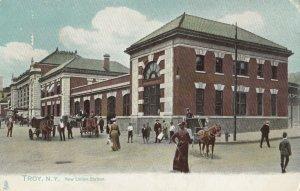 TROY , New York, 1900-10s ; New Union Railroad Train Station: TUCK 2028