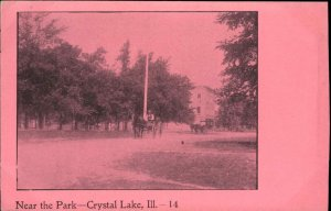 Crystal Lake IL Near the Park c1905 Postcard