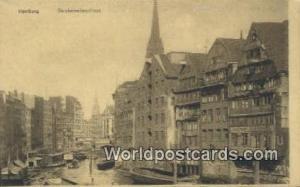 Hamburg Germany, Deutschland Postcard Deichstraben Fleet  Deichstraben Fleet