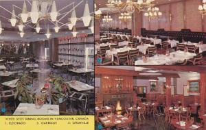3-Views, White Spot Dining Rooms, Vancouver, British Columbia, Canada, 40-60s