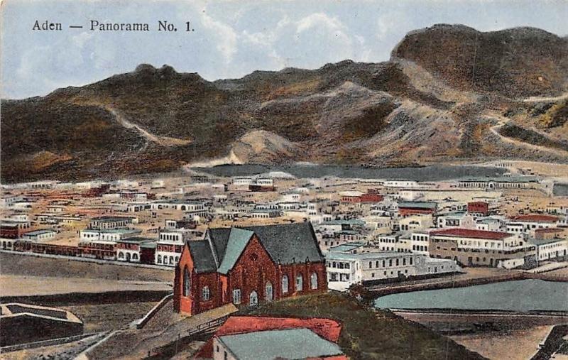 Yemen Aden - Panorama No. 1 General View and Church
