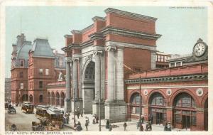 Boston Massachusetts~North Station~Trolleys Drop Off~1912 Detroit Pub Co