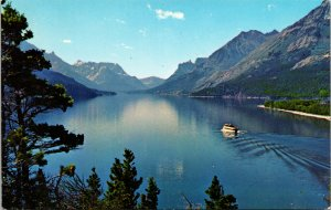 Waterton Lake Lakes National Park Alberta Canada Postcard unused 1960s
