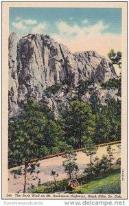 The Rock Wall On Mount Rushmore Highway Black Hills South Dakota