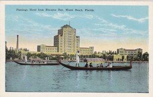 Florida Miami Beach Flamingo Hotel From Biscayne Bay sk5941
