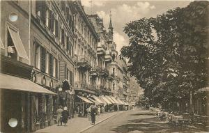 Czech R. Karlovy Vary Karlsbad 1933 pierced postcard