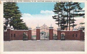 Class Of 1903 Gates Memorial To Dr Whittier Bowdoin College Brunswick Maine