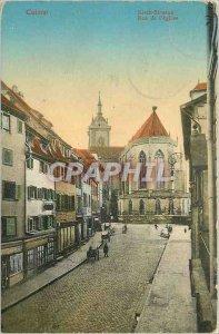 Postcard Colmar Old Church Street