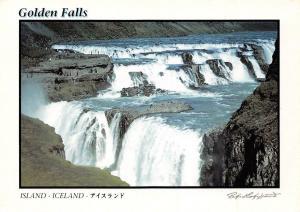 Iceland Golden Falls Waterfall