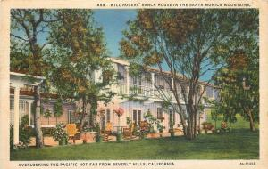 Beverly Hills California~Santa Monica Mountains~Will Rogers Ranch House~1933 PC