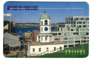 Vintage Puzzle Postcard Historic Old Town Clock, Halifax, Nova Scotia
