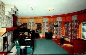 Ohio Zaleski Lake Hope State Park Dining Lodge Main Lounge 1957