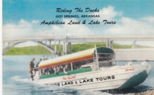 HOT SPRINGS , Arkansas , 40-50s ; Riding the Ducks Boat Ride