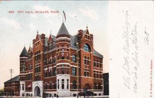 Washington Spokane City Hall 1908