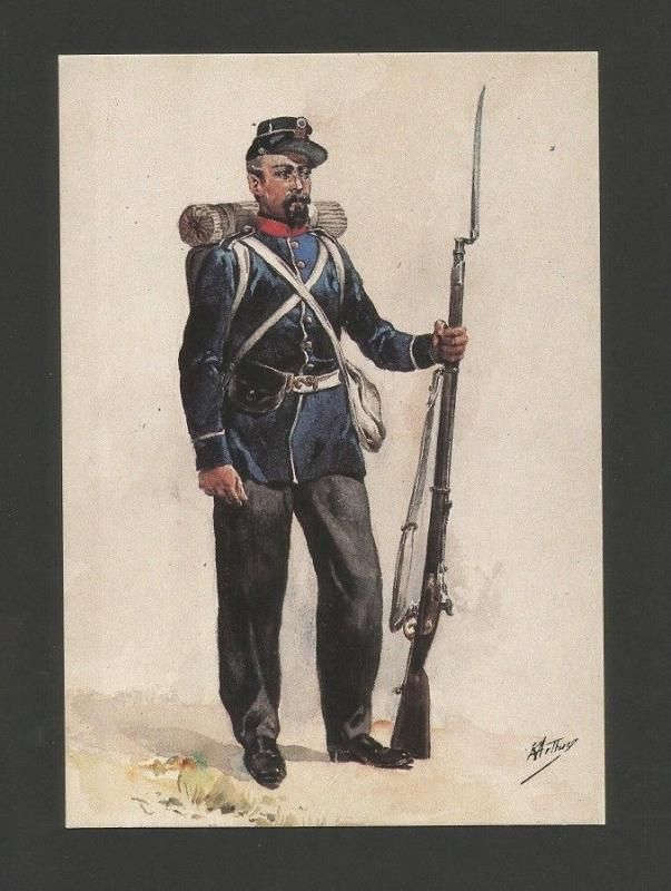 ART POSTCARD PORTUGAL ARMY  in ANGOLA  AFRICA AFRIKA AFRIQUE