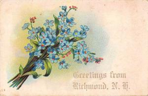 Richmond New Hampshire Greetings Flowers Vintage Postcard JD933750