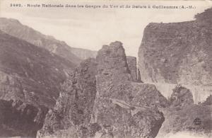 Route Nationale Dans Les Gorges Du Var Et De Daluis A Guillaumes, Alpes Marit...