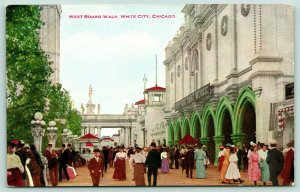 Chicago~White City Amusement Park~West Board Walk~Boat Ride Gate~1910 VO Hammon
