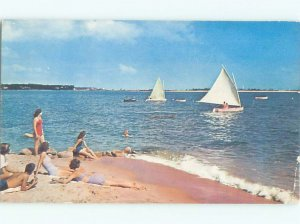 1950's CALIFORNIA BEACH SUN TANNING Postmarked San Clemente California CA AF4202