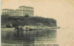 France Marseille Chateau du Pharo Institut Pasteur Lighthouse Postcard
