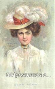 Artist E.H. Kiefer, Postcard, Post Card Old Vintage Antique Dear Heart Artist...