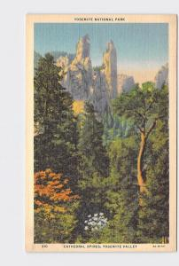 VINTAGE POSTCARD NATIONAL STATE PARK YOSEMITE CATHEDRAL SPIRES #2