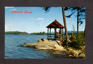 ME Greetings From Stratton Maine Lakeside Scene Postcard