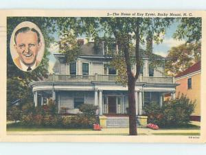 Linen HOME OF KAY KYSER Rocky Mount North Carolina NC d1774