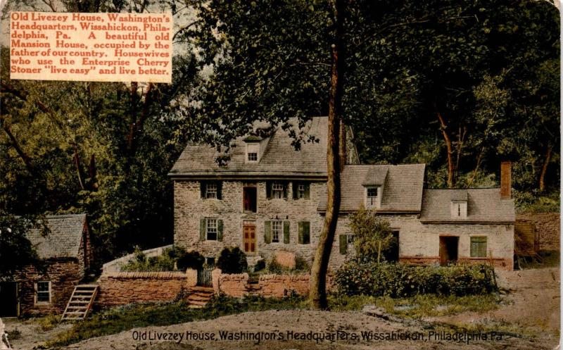 Old Livezey House, Wissahickon, Philadelphia PA Advertising Vintage Postcard F19