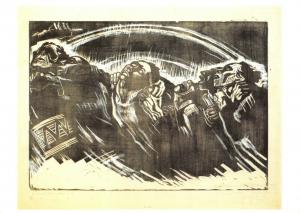 New Art Postcard The volunteers, die freiwilligen (1922-3) by Kathe Kollwitz 17M