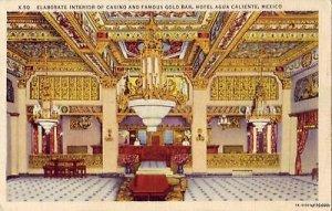 CASINO INTERIOR GOLD BAR HOTEL AGUA CALIENTE MEX 1937