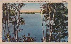 New York Greetings From Ballston Spa 1952 Curteich