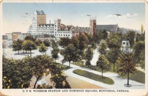 Montreal Quebec~Canadian Pacific Railroad Windsor Station~Dominion Square~1937