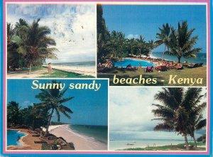 Kenya Postcard butterfly stamp franking Sunny sandy beaches