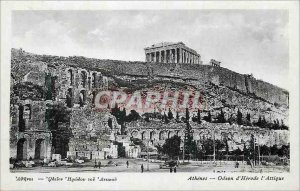 Postcard Modern Athens Odeon of Herod Attica Greece