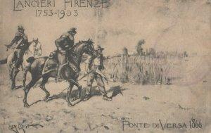 Military ; Italy , 1900-10s : Lanciera Firenze 1735-1903