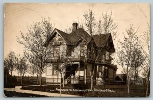 Belview Minnesota~A O Gimmestad Victorian Residence~Banker & Historian~1910 RPPC