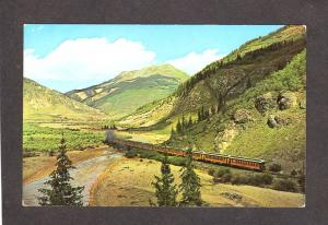 CO Narrow Gauge Railroad Train nr Silverton San Juan Mtns Colorado Postcard