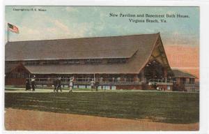 Pavilion Basement Bath House Virginia Beach Virginia 1910c postcard
