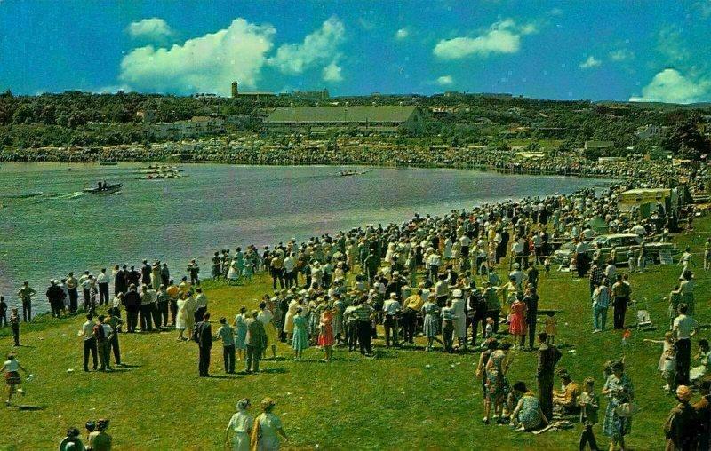 Canada St John's Newfoundland Annual Regatta Quidi Vidi Lake Postcard