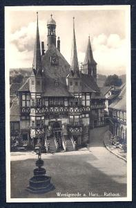 Town Hall Wernigerode Harz Germany Real Photo unused c1920's